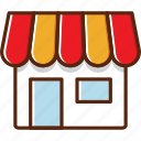 build, coffeeshop, market, shop, toko icon
