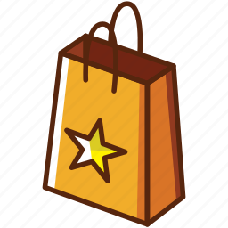 box, bucket, online, payment, star icon
