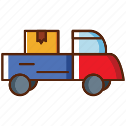 box, car, delivery, fast, ontime, truk icon
