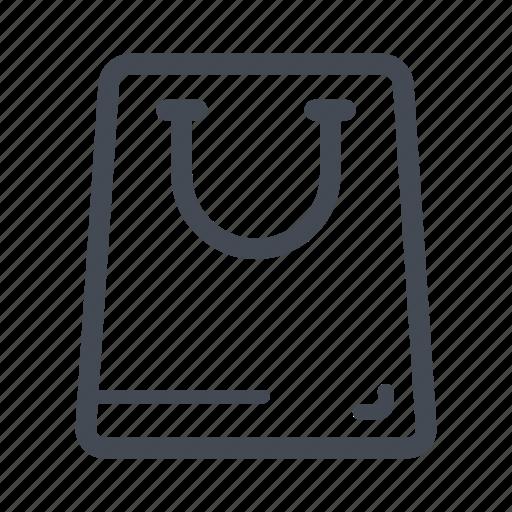 bag, mall, paper bag, purse, shopping, shopping bag icon