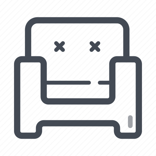 armchair, chair, furniture, home, house, living room, rest icon