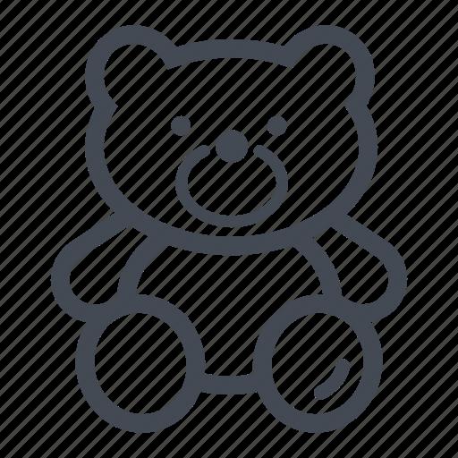 bear, cuddle, teddy bear, toy icon