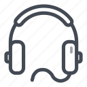 audio, headphones, headset, listen, music icon