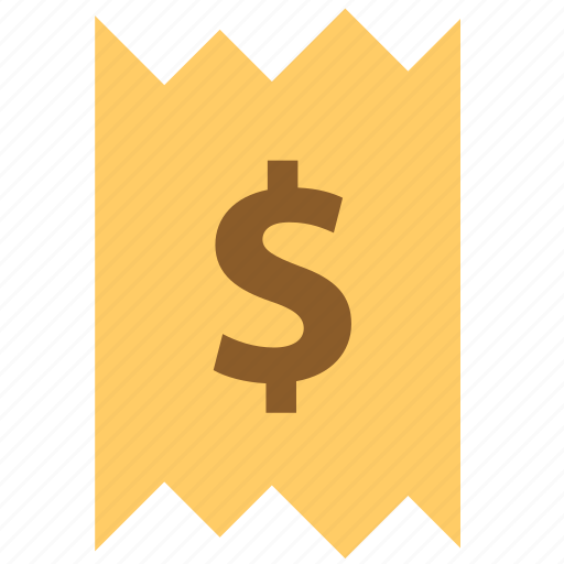 coin, finance, invoice, money, price, receipt, sale icon