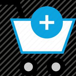 add, cart, item, shopping icon