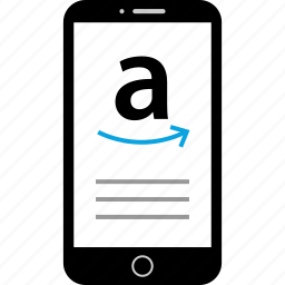 amazon, arrow, device, mobile icon