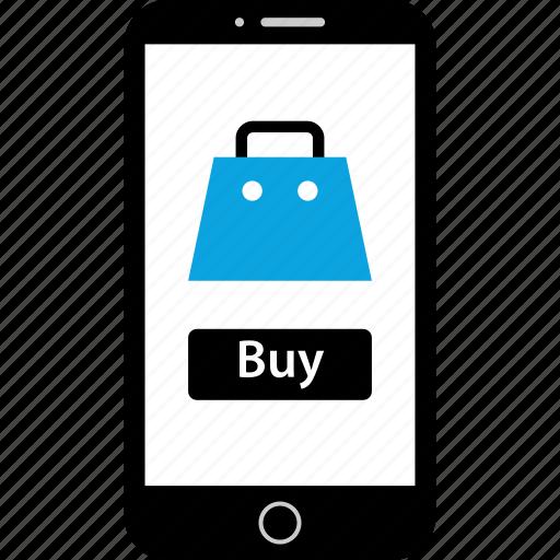 bag, buy, mobile, shopping icon