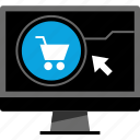 amazon, arrow, cart, online icon