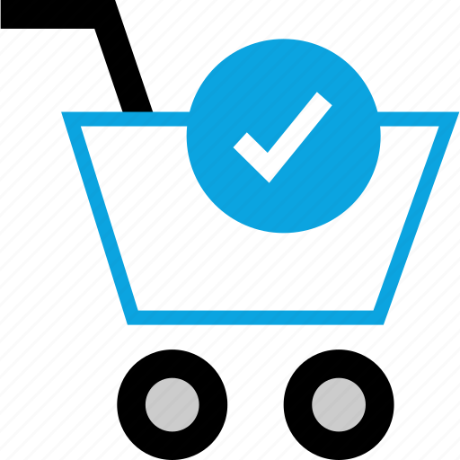 cart, checkmark, commerce, ecommerce icon