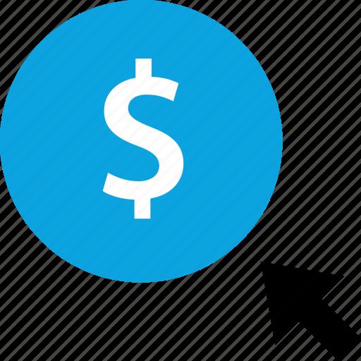 click, dollar, online, web icon