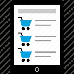 ipad, pad, shopping, tablet icon