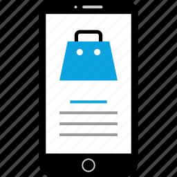 device, mobile, shop, shopping icon