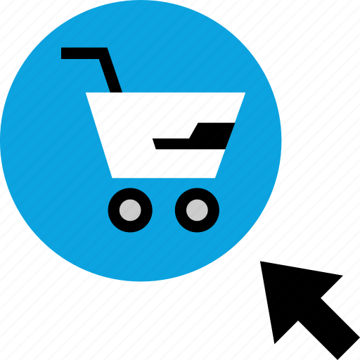 click, online, shopping, web icon
