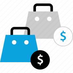 bag, dollar, money, shopping icon