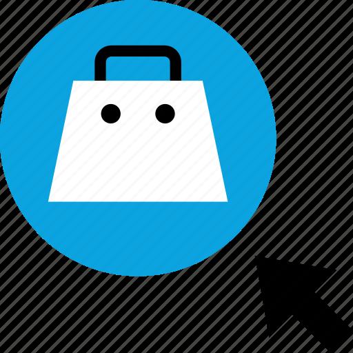 arrow, cart, click, shopping icon