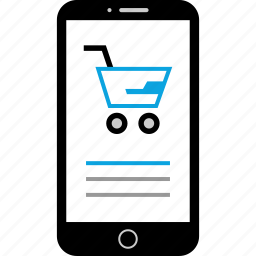 cart, device, mobile, shopping icon