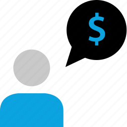 avatar, money, person, user icon