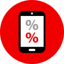 ecommerce, online, percent, shop, shopping icon
