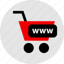 cart, ecommerce, online, shop, shopping, www icon