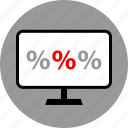 ecommerce, online, percent, shop, shopping, three icon