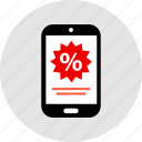 mobile, percent, percentage, rate icon