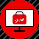 bag, pc, shop, shopping icon