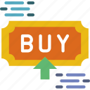 buy, ecommerce, money, press, shopping icon
