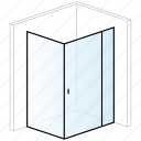 bathroom, enclosure, rectangular, shower, shower enclosure icon