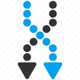 dotted arrows, down, exchange, mix, random, replace, shuffle icon