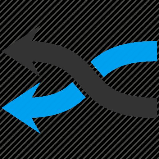 arrow, exchange, left, mix arrows, random, replace, shuffle icon
