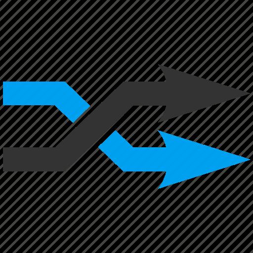 arrow, exchange, mix arrows, random, replace, right, shuffle icon