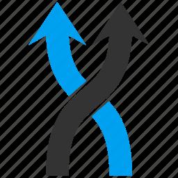 arrow, exchange, mix arrows, random, replace, shuffle, up icon