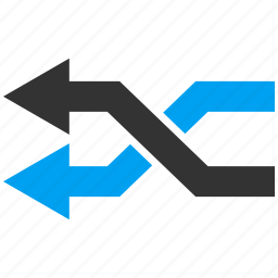 arrows, exchange, left, mix, random, replace, shuffle icon