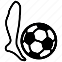 ball, beat, football, goal, soccer, sport, strike icon