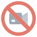 crossed, forbidden, no, prohibition, technology, video icon