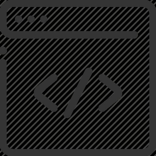 clean, code, coding, html, internet, program icon