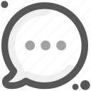 code, communication, humans, send, share, social, think ellipsis icon