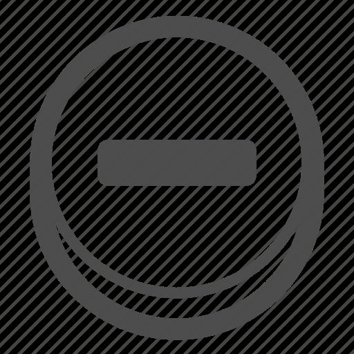 calculator, minus, negative, remove icon