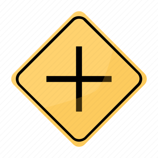 interseccion, road, sign, traffic, vias, yellow icon