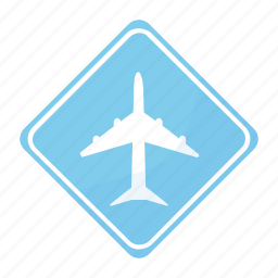 airport, road, sign, traffic icon