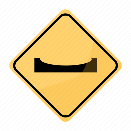 bado, road, sign, traffic, yellow icon