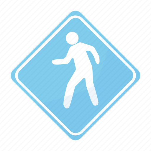 crossing, dangerous, people, road, sign, traffic icon