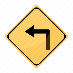 curv, dangerous, pronounced, road, sign, traffic, yellow icon