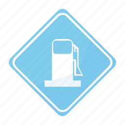 gas, road, sign, station icon