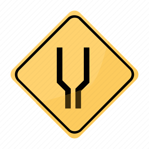 hitch, road, sign, traffic, yellow icon