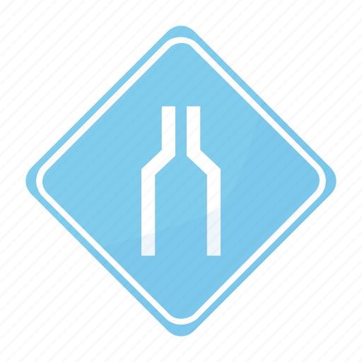 reduction, road, sign, traffic icon