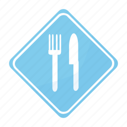 restaurant, road, sign, traffic icon