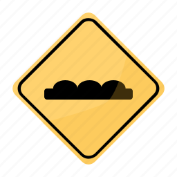 road, sign, stop, topes, traffic, yellow icon