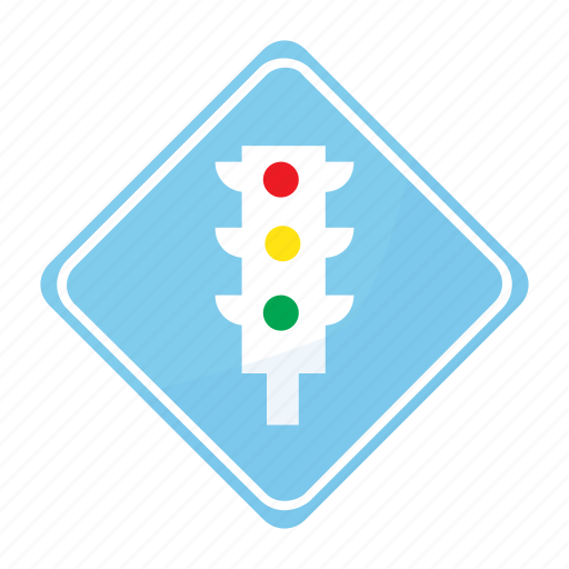 light, road, sign, traffic icon