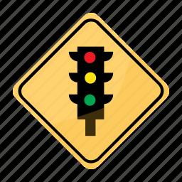 light, road, sign, traffic, yellow icon
